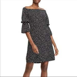 Lauren Ralph Lauren NWT Polka Dot Crepe Dress $140
